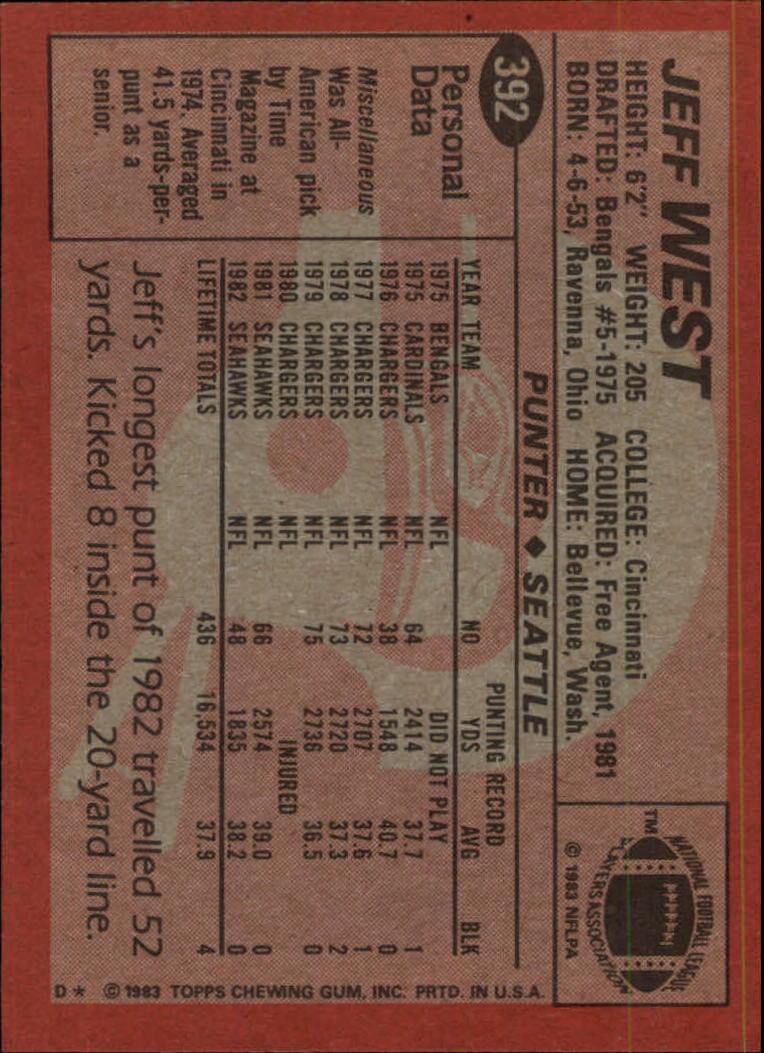 1983-Topps-Football-Card-Pick-147-396 thumbnail 331