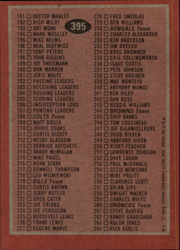 1983-Topps-Football-Card-Pick-147-396 thumbnail 335