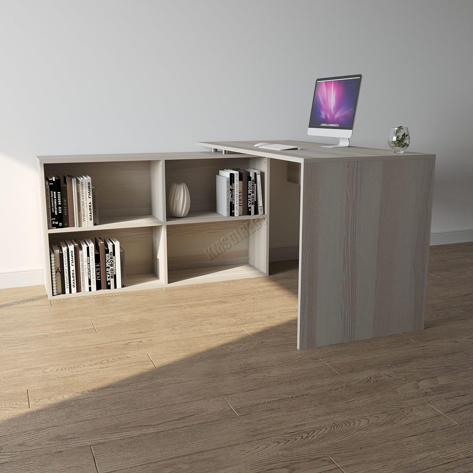 foxhunter l f rmige ecke computer schreibtisch st ck tisch zuhause arbeit b ro ebay. Black Bedroom Furniture Sets. Home Design Ideas