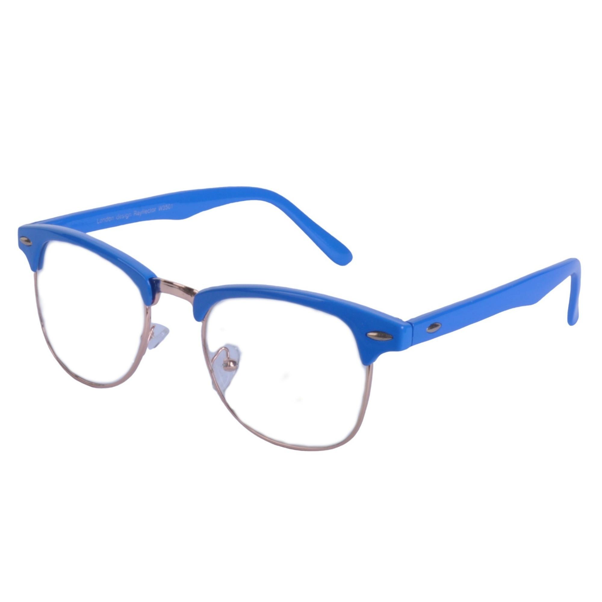 Vintage-Lente-Transparente-Cejas-Barra-Gafas-Gafas-de-Sol-Hron-Borde-Negro miniatura 9