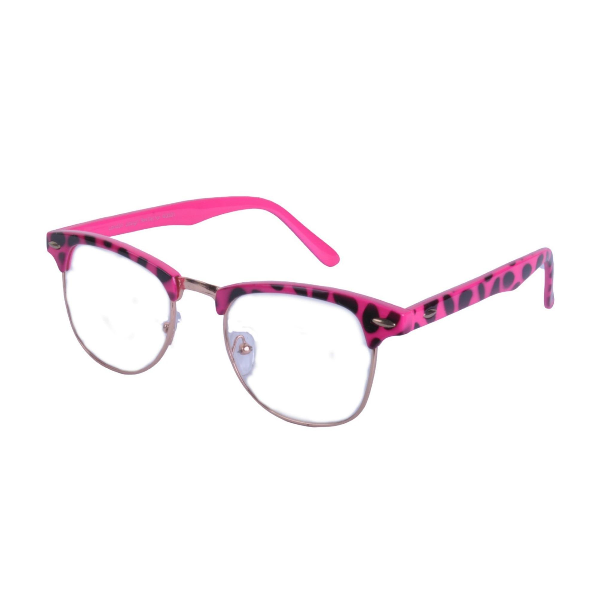 Vintage-Lente-Transparente-Cejas-Barra-Gafas-Gafas-de-Sol-Hron-Borde-Negro miniatura 10