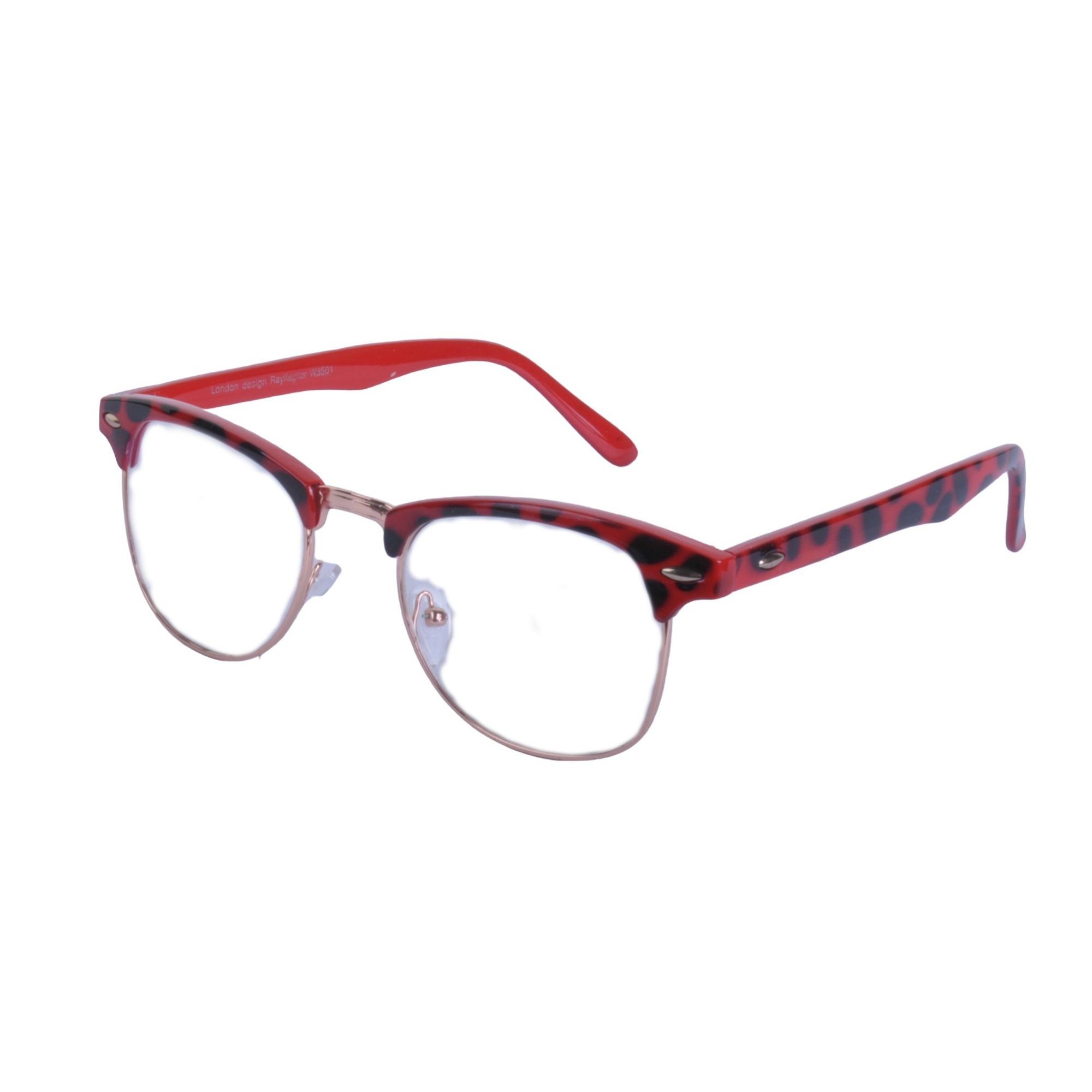 Vintage-Lente-Transparente-Cejas-Barra-Gafas-Gafas-de-Sol-Hron-Borde-Negro miniatura 12