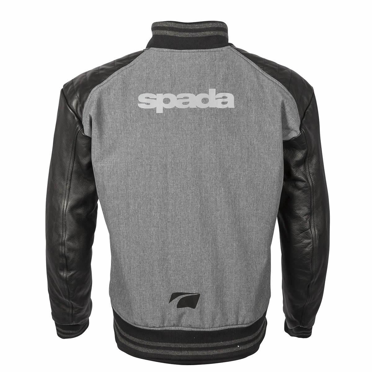 Spada-Campus-Yale-Men-039-s-Motorcycle-Jacket-Grey-Leather-Textile-CE-Armour-Summer miniature 7