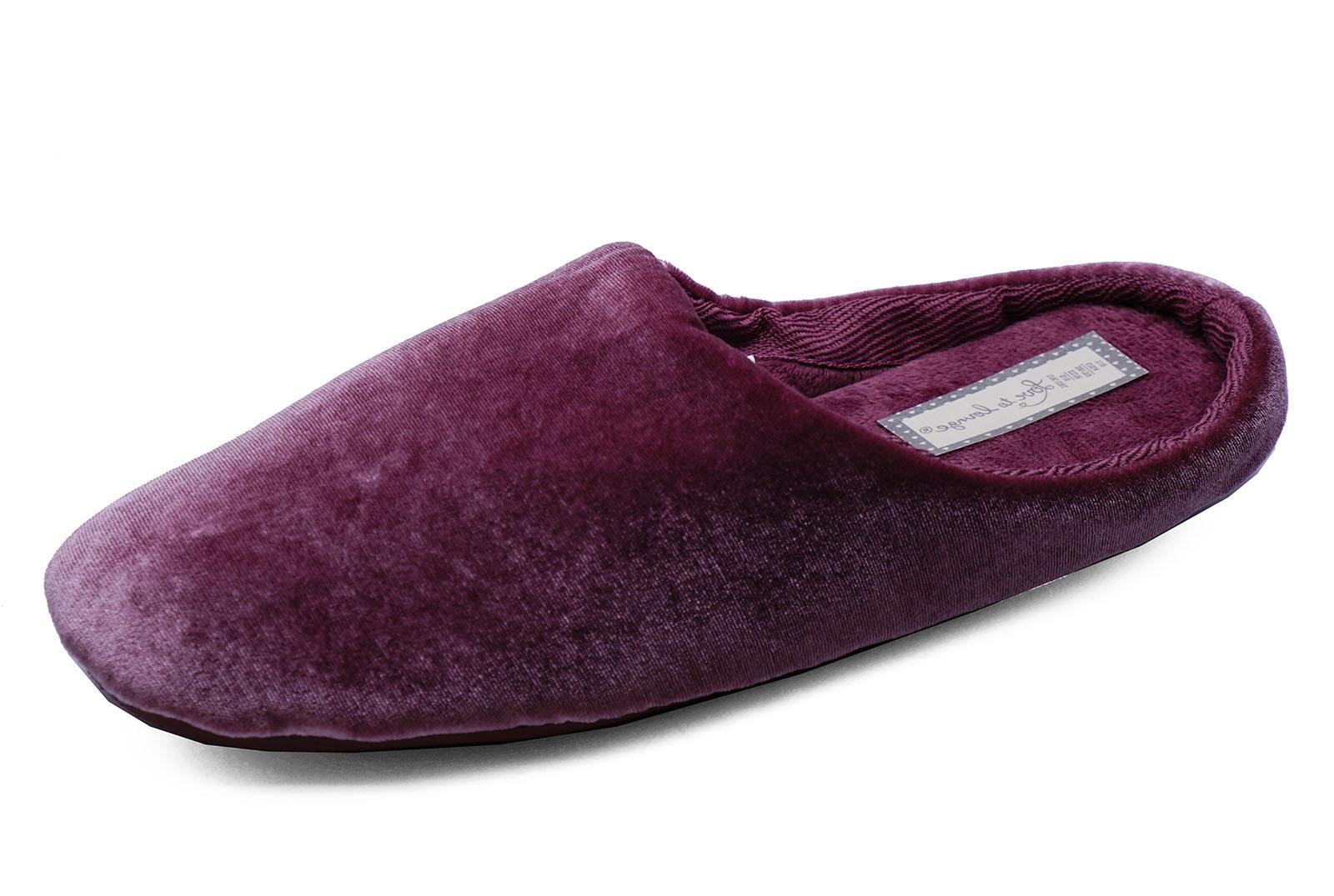 Mujer Rosa Sin Cordones Cómodo Zapatos Talón Cálido Interior Zapatillas HOUSE
