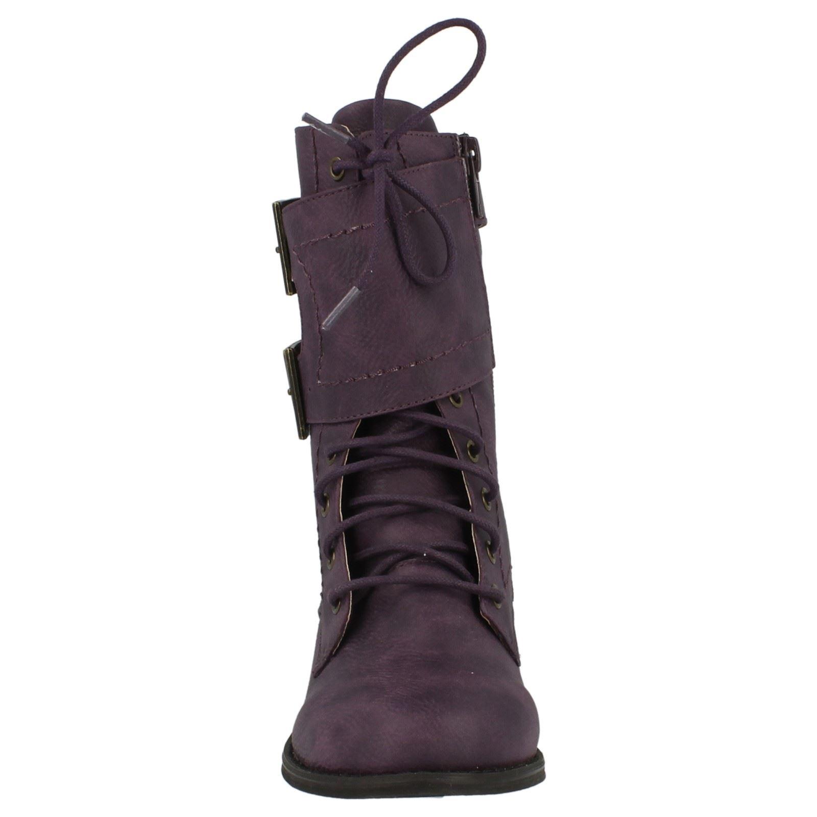 Mädchen Spot on Armee Stil Stiefel