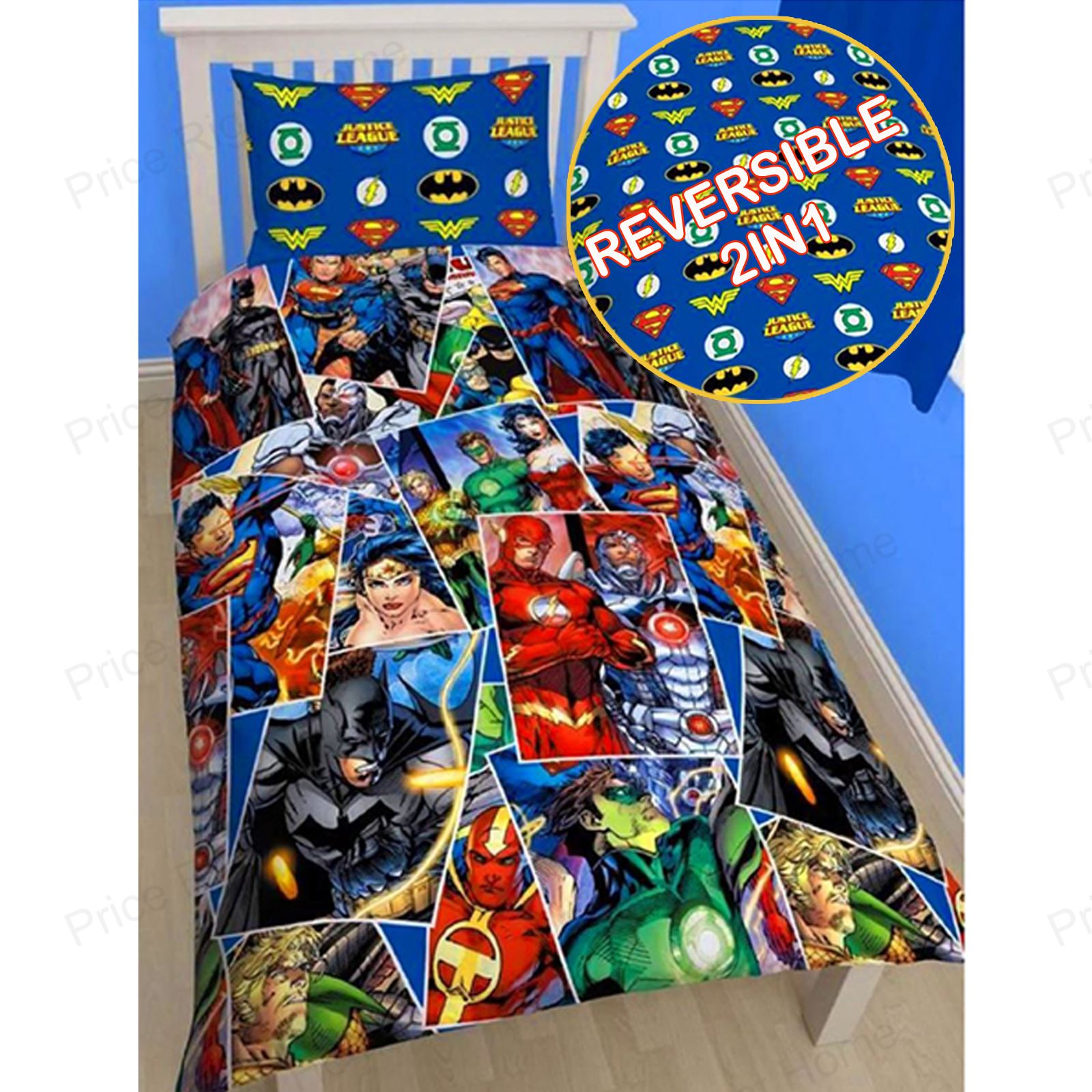dc comics batman & superman duvet cover and pillowcase sets