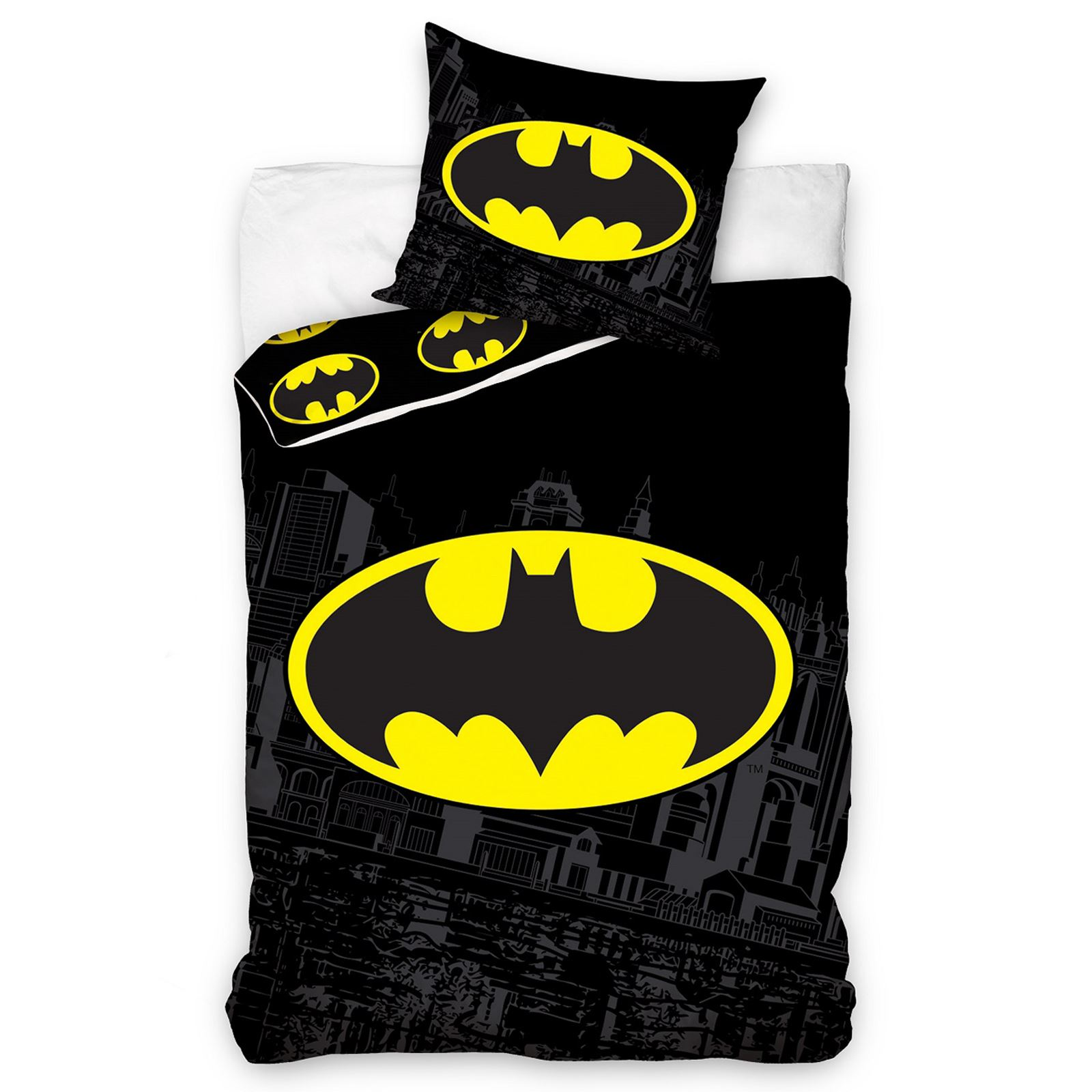 DC COMICS BATMAN & SUPERMAN DUVET COVER SET BEDDING KIDS BOYS