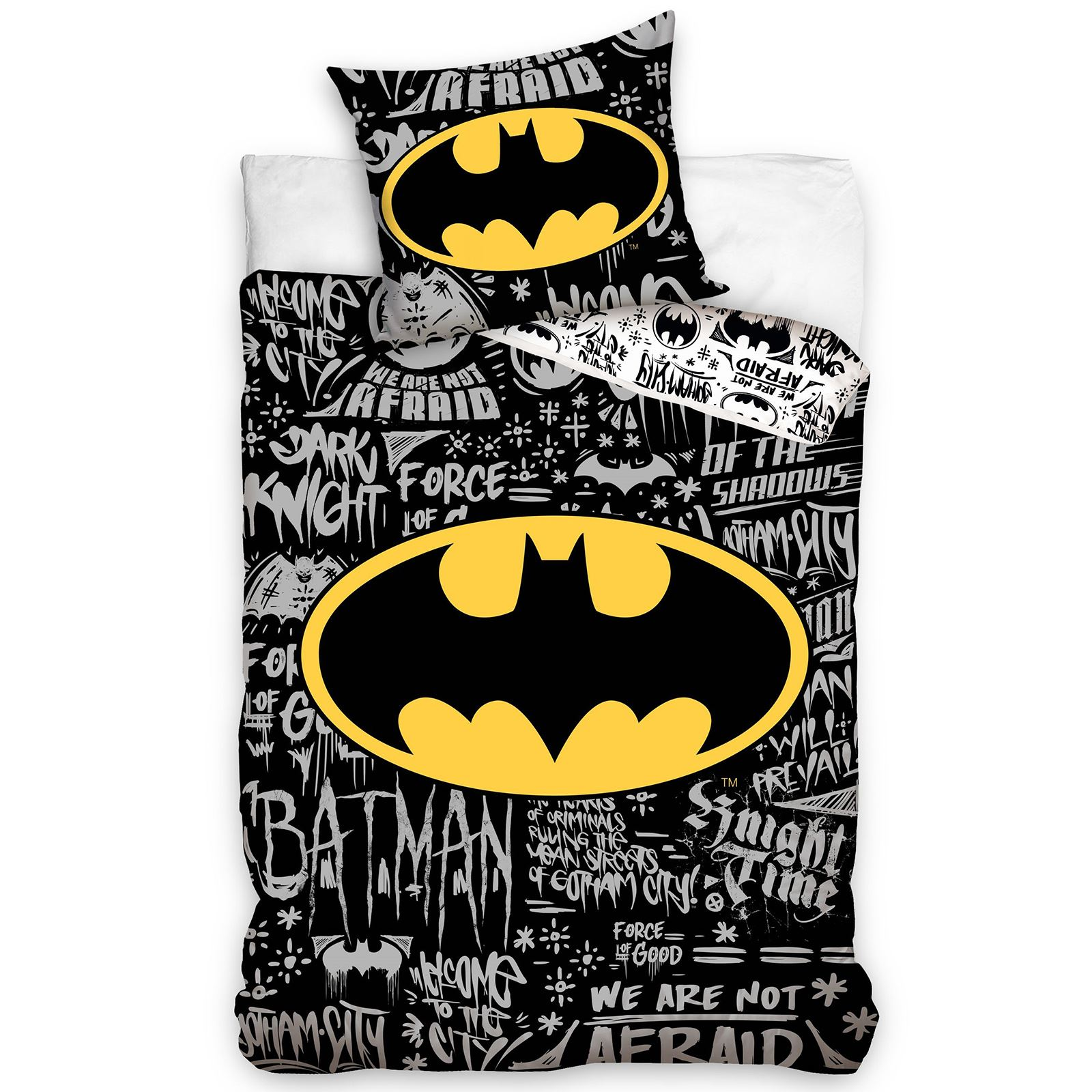 Dc Comics Batman Amp Superman Duvet Cover And Pillowcase