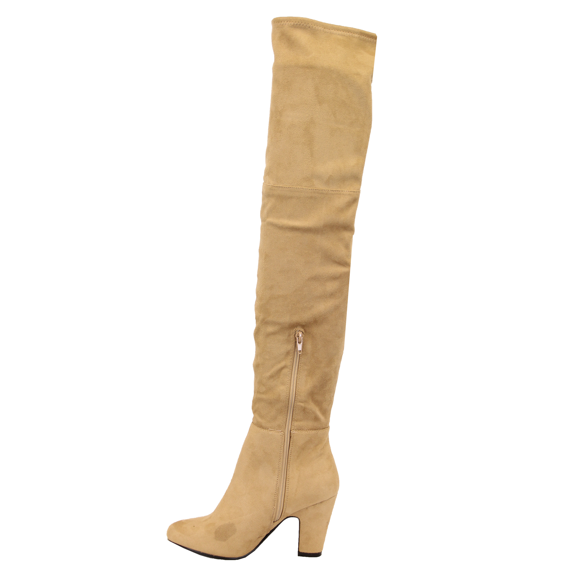 fa1533da718 Ladies Womens Boots Long Over The Knee Suede Look Shoes Casual ...