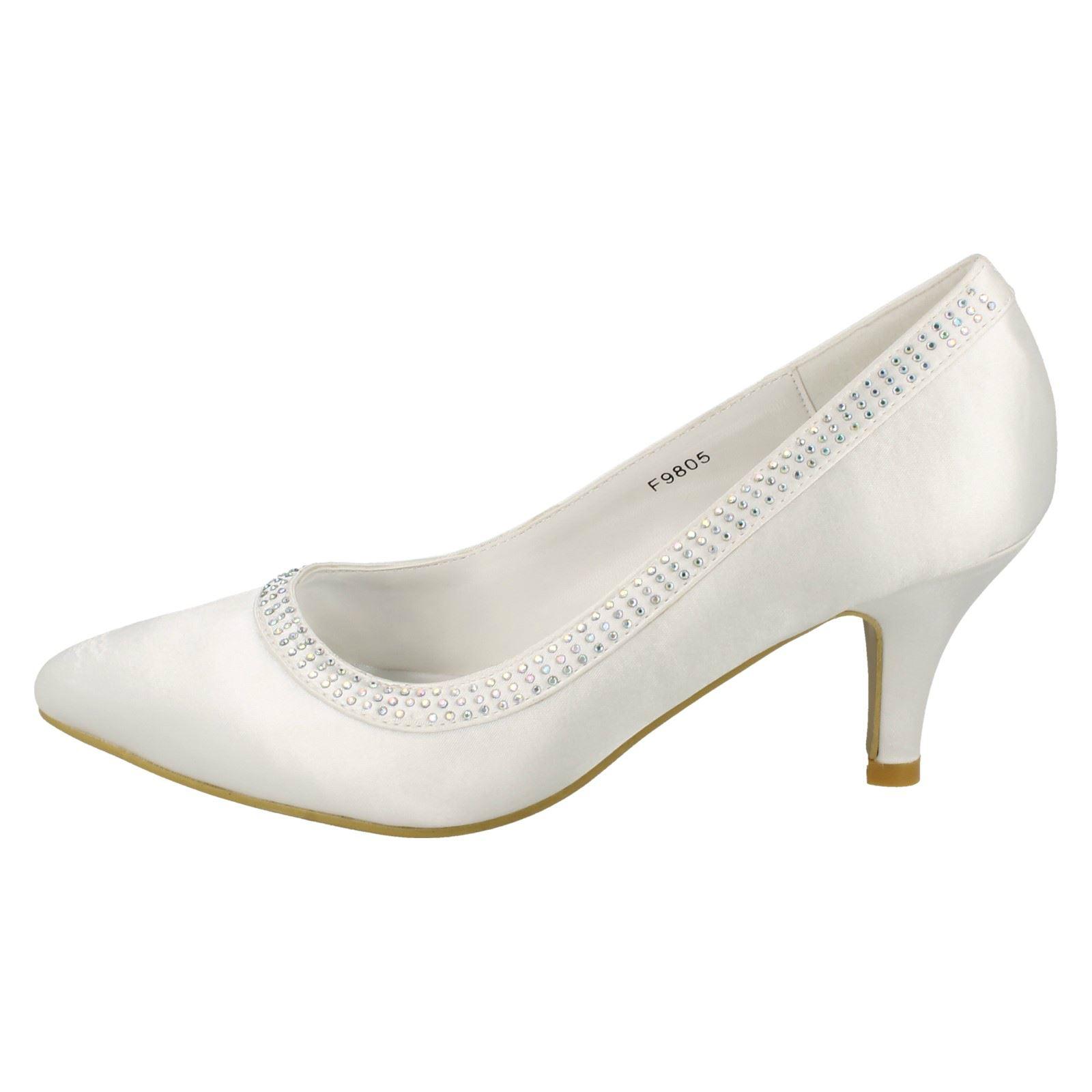 Donna-Anne-Michelle-SPOSA-tacco-medio-039-Scarpe-con-Paillettes-039