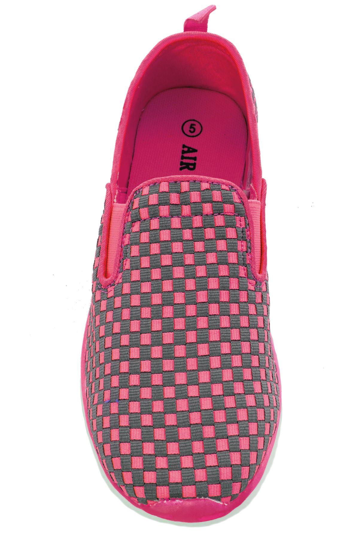 Mujer Sin Cordones Zapatillas de cuadros Lona Plano Zapatos Cómodos