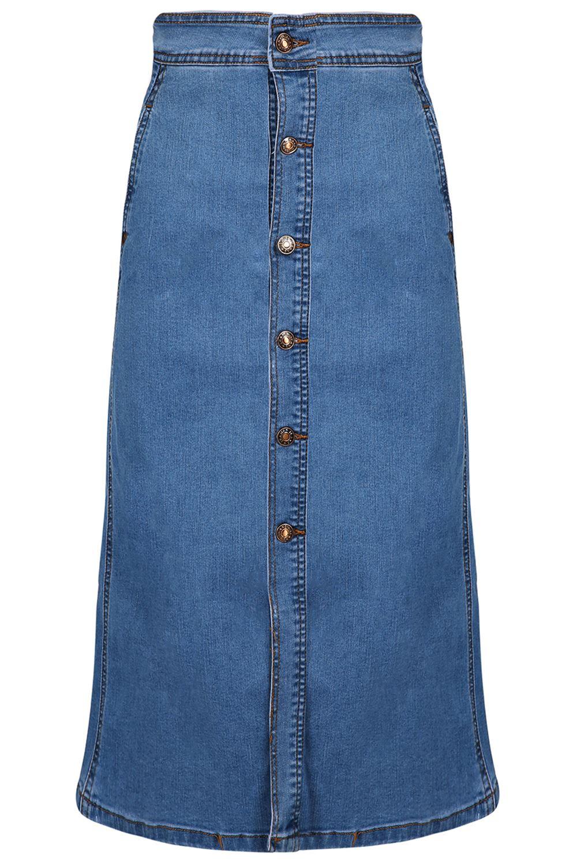 damen sommer a line jeans hohe taille vordertasche denim. Black Bedroom Furniture Sets. Home Design Ideas