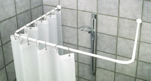 Tenda Vasca Da Bagno In Inglese : Bastone per tenda doccia angolari flex schiene duschvorhangspinne