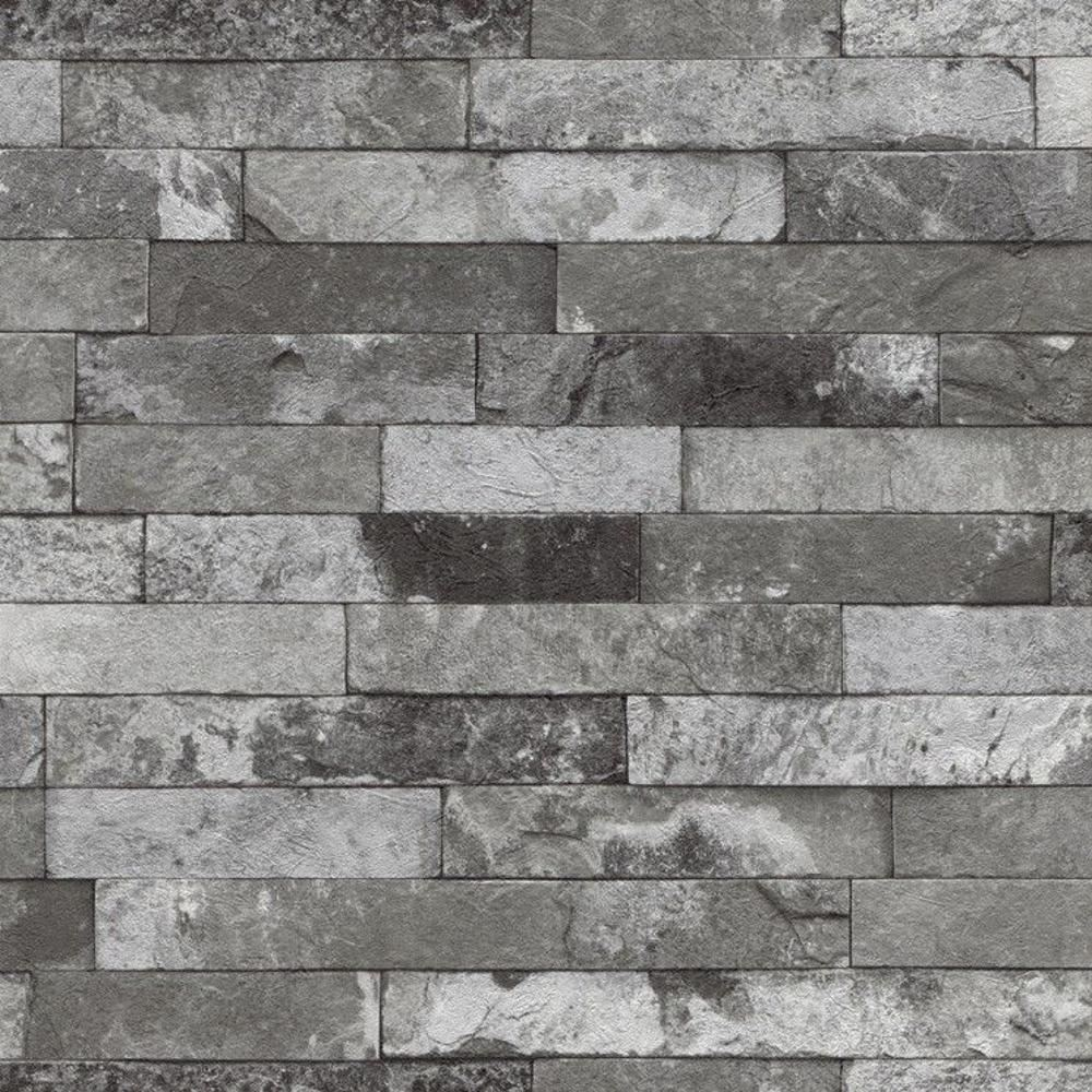 neue rasch fabric abgenutzt ziegel muster stein effekt. Black Bedroom Furniture Sets. Home Design Ideas