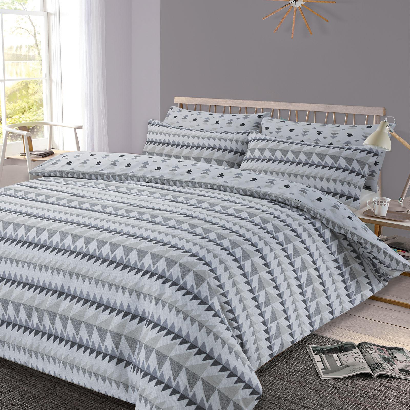 Copripiumino-con-Federa-per-Cuscino-Geometrico-riavvolgimento-Set-da-letto