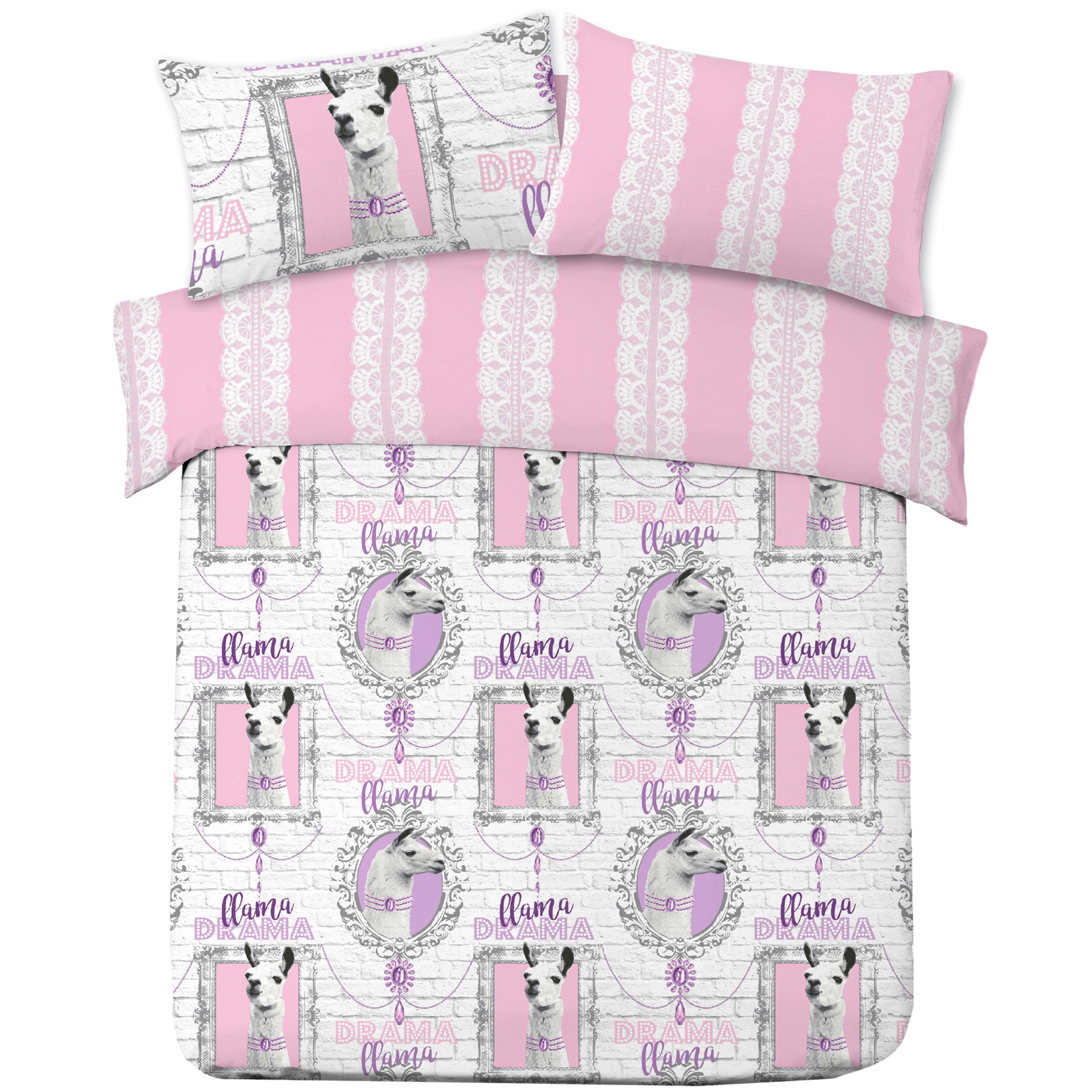 dreamscene housse de couette avec taie d 39 oreiller polycoton ebay. Black Bedroom Furniture Sets. Home Design Ideas
