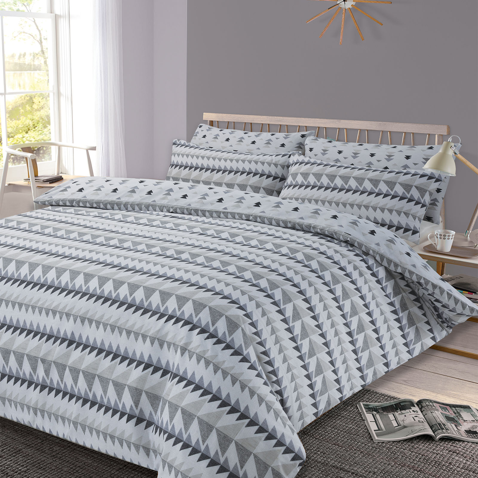 dreamscene bett bezug mit kissenbezug polybaumwolle ebay. Black Bedroom Furniture Sets. Home Design Ideas
