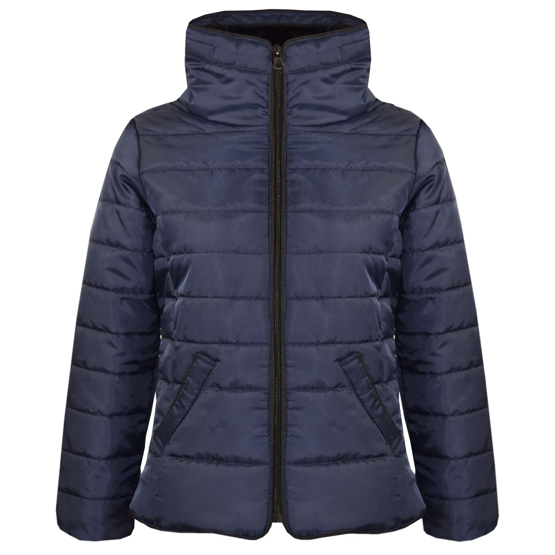 A2Z 4 Kids/® Girls Jacket Kids Cropped Padded Puffer Bubble Fur Collar Warm Thick Coat 3-13Y