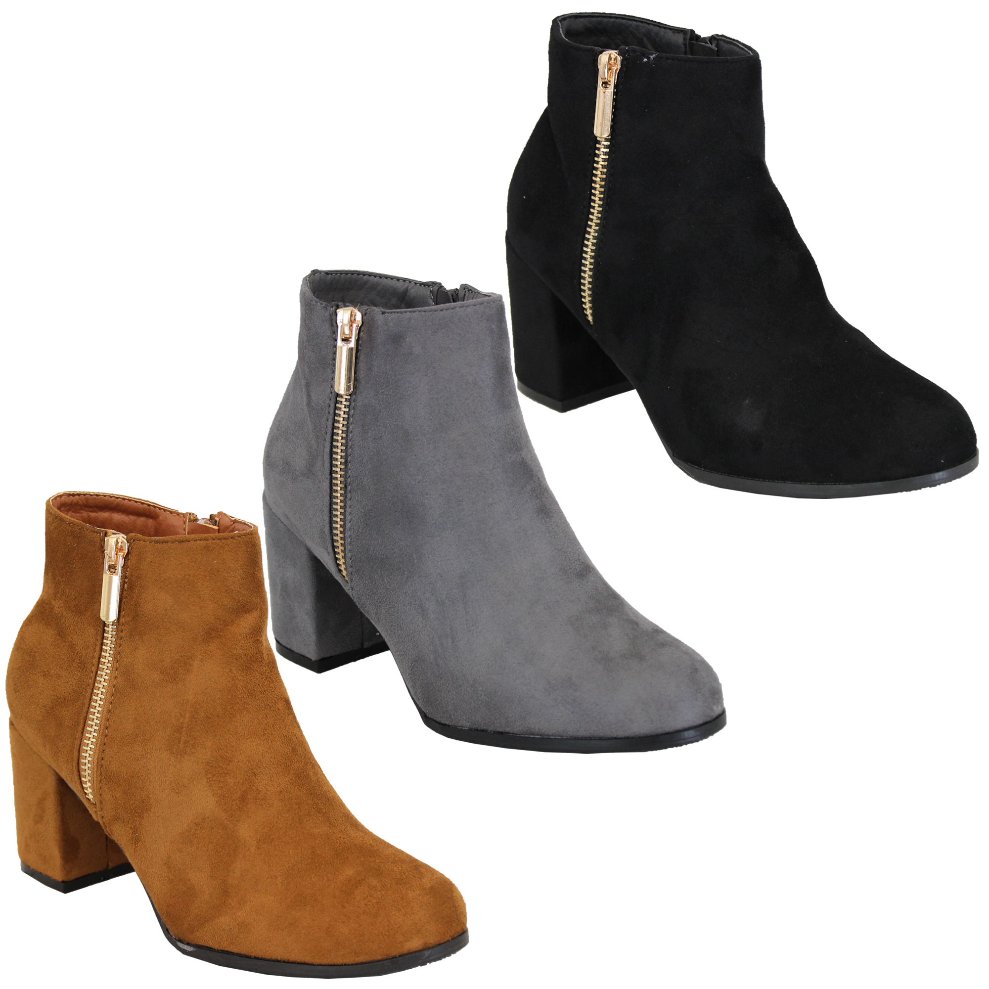 Ladies Chelsea Boots Womens Suede Look