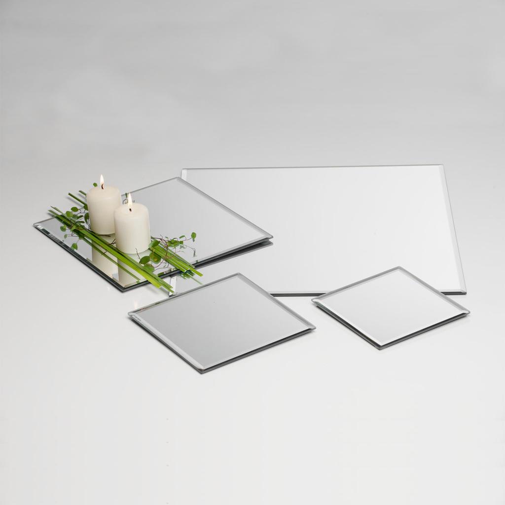 Plaque de miroir plateau en verre d cor d co dekoplatte for Acheter plaque de verre
