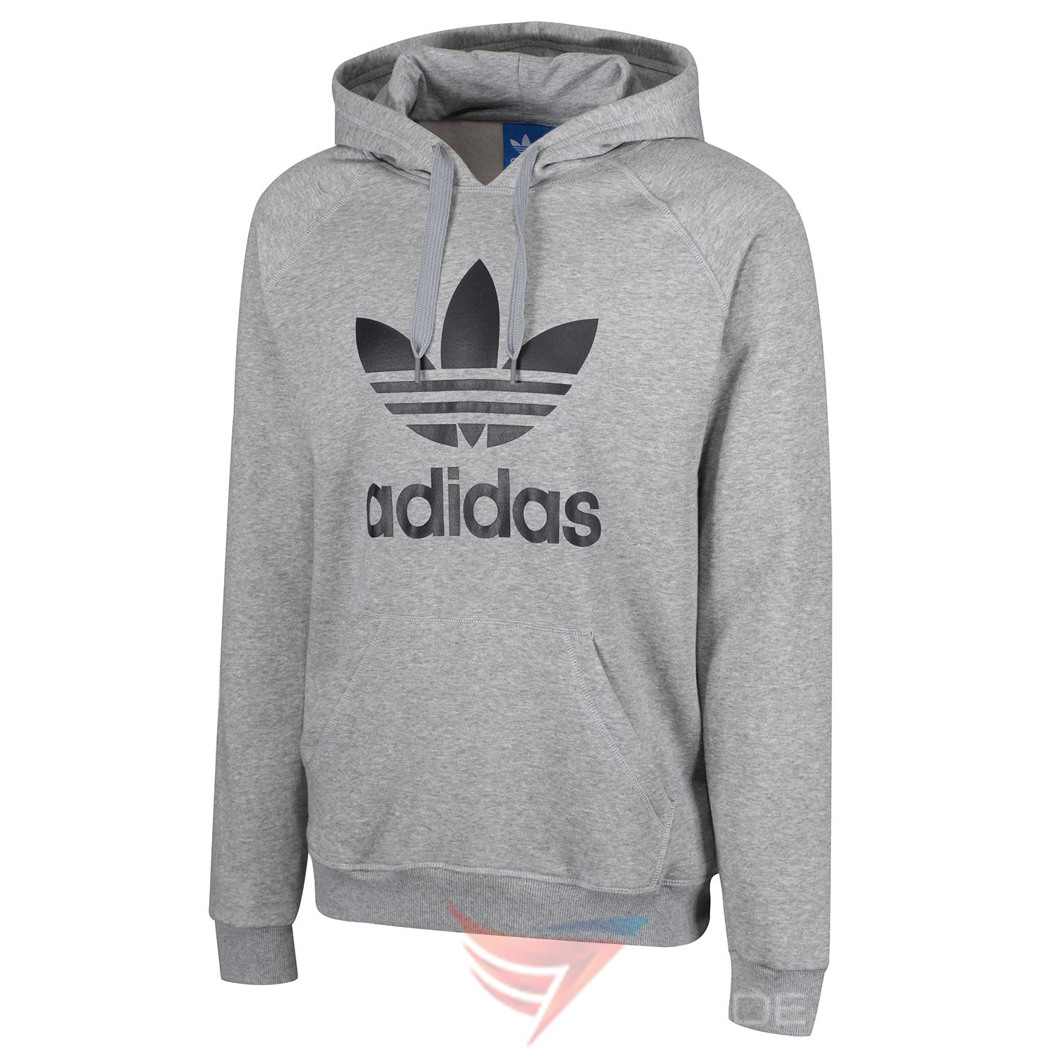 Details about adidas ORIGINALS TREFOIL HOODIE BLUE NAVY BLACK GREY PULLOVER HOODED S M L XL