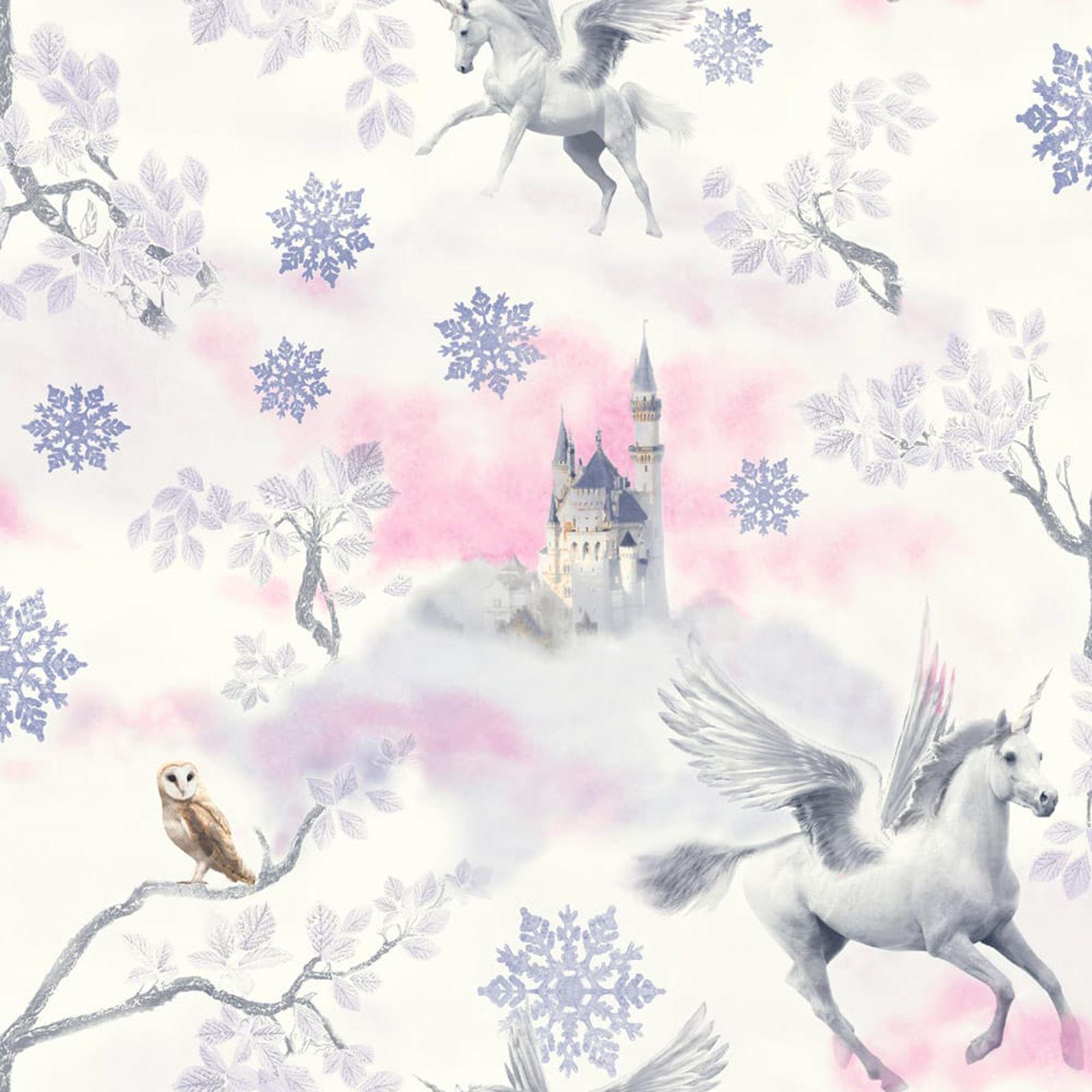 Cuento de hadas unicornio papel pintado Lila Arthouse 667801 Niña ...