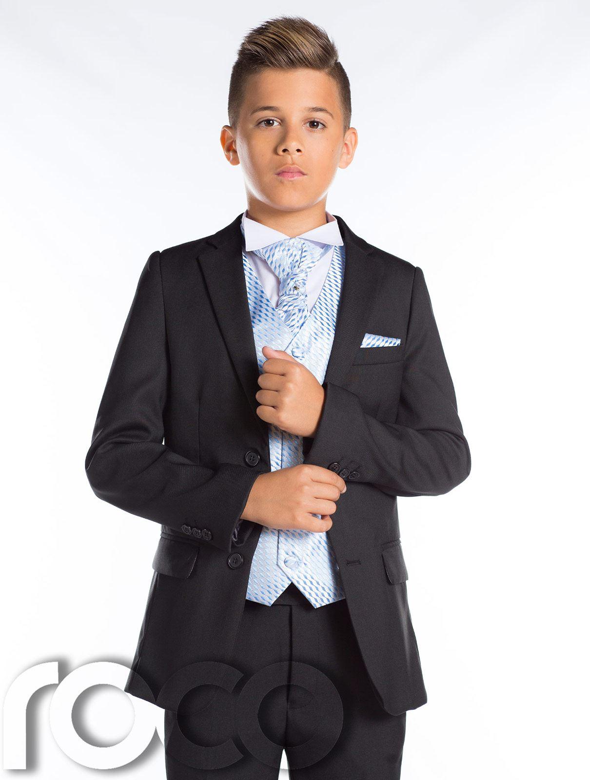 Boys Wedding Suit, Black Prom Suit, Page Boy Outfit, Boys Slim Fit ...
