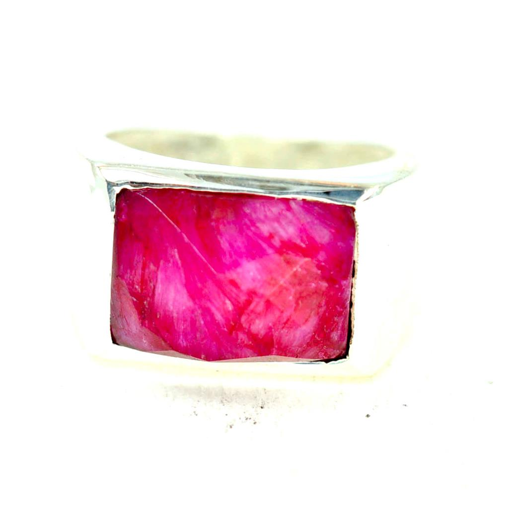 Rubino Naturale Pietra Natale Luglio argentoo Sterling 925 Anello Anello Anello da Uomo f67dec