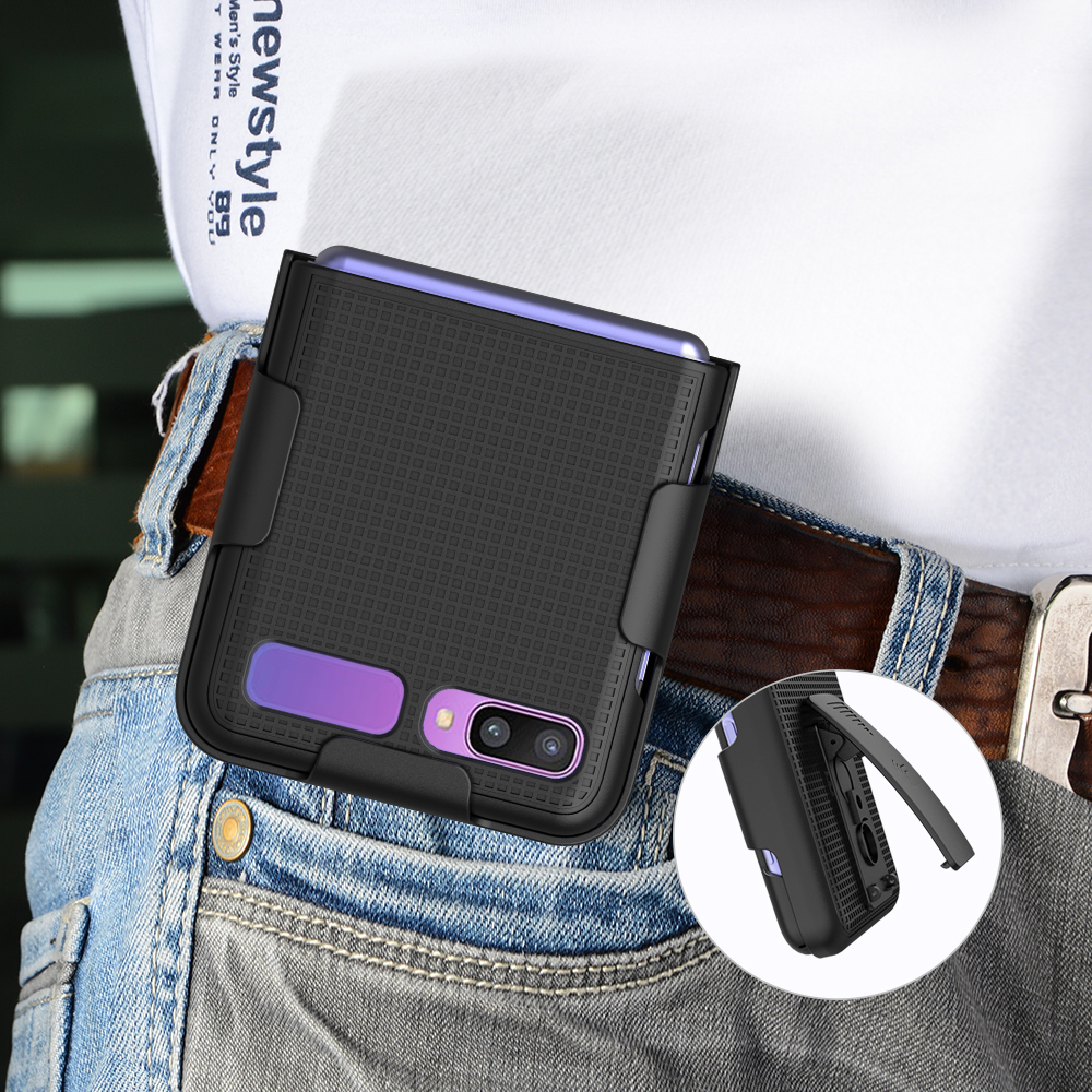 thumbnail 26 - Hard Protector Case Cover + Belt Clip Holster for Samsung Galaxy Z Flip 5G Phone