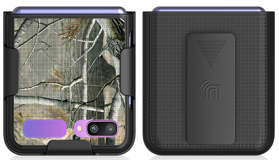 thumbnail 3 - Hard Protector Case Cover + Belt Clip Holster for Samsung Galaxy Z Flip 5G Phone