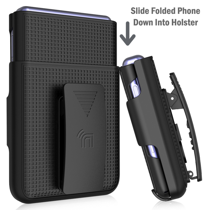 thumbnail 15 - Hard Protector Case Cover + Belt Clip Holster for Samsung Galaxy Z Flip 5G Phone