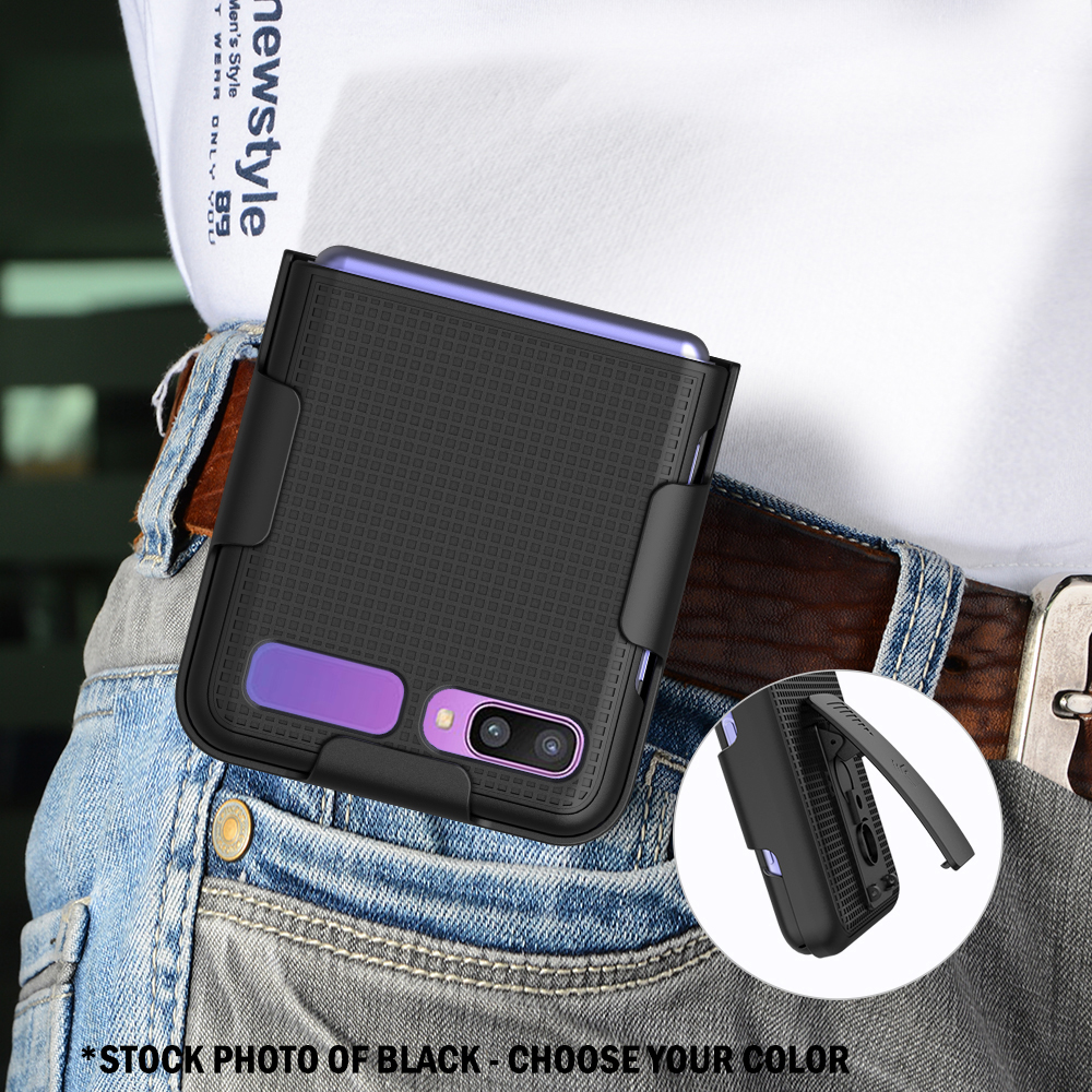 thumbnail 19 - Hard Protector Case Cover + Belt Clip Holster for Samsung Galaxy Z Flip 5G Phone