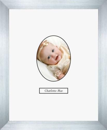 Grand-50x40-Bapteme-Invite-Signatures-Livre-Cartonne-Argent-Message-Cadre