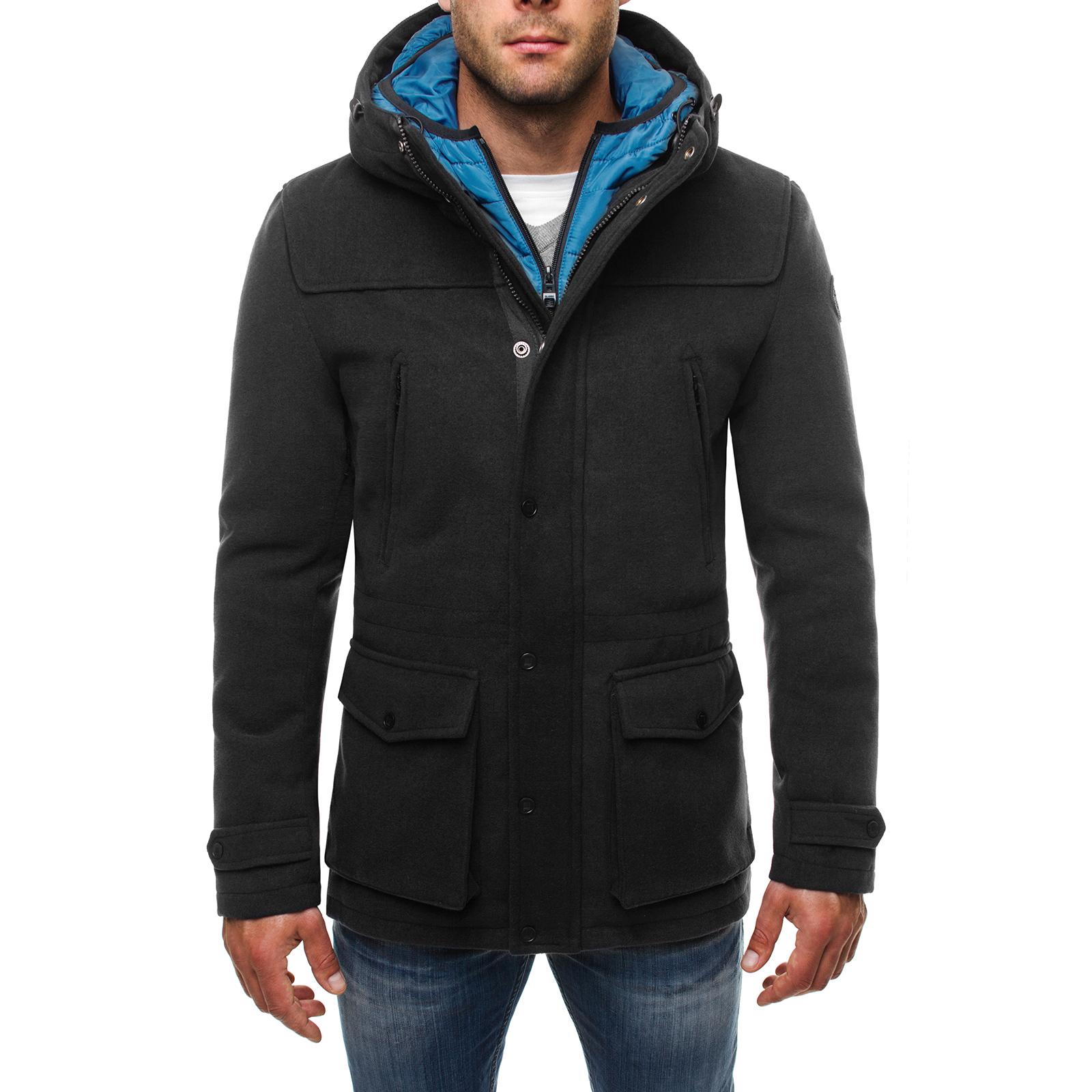 294e532387 Dettagli su OZONEE J.STYLE Giacca Invernale Uomo Parka giacca sportiva  cappotto parka mix