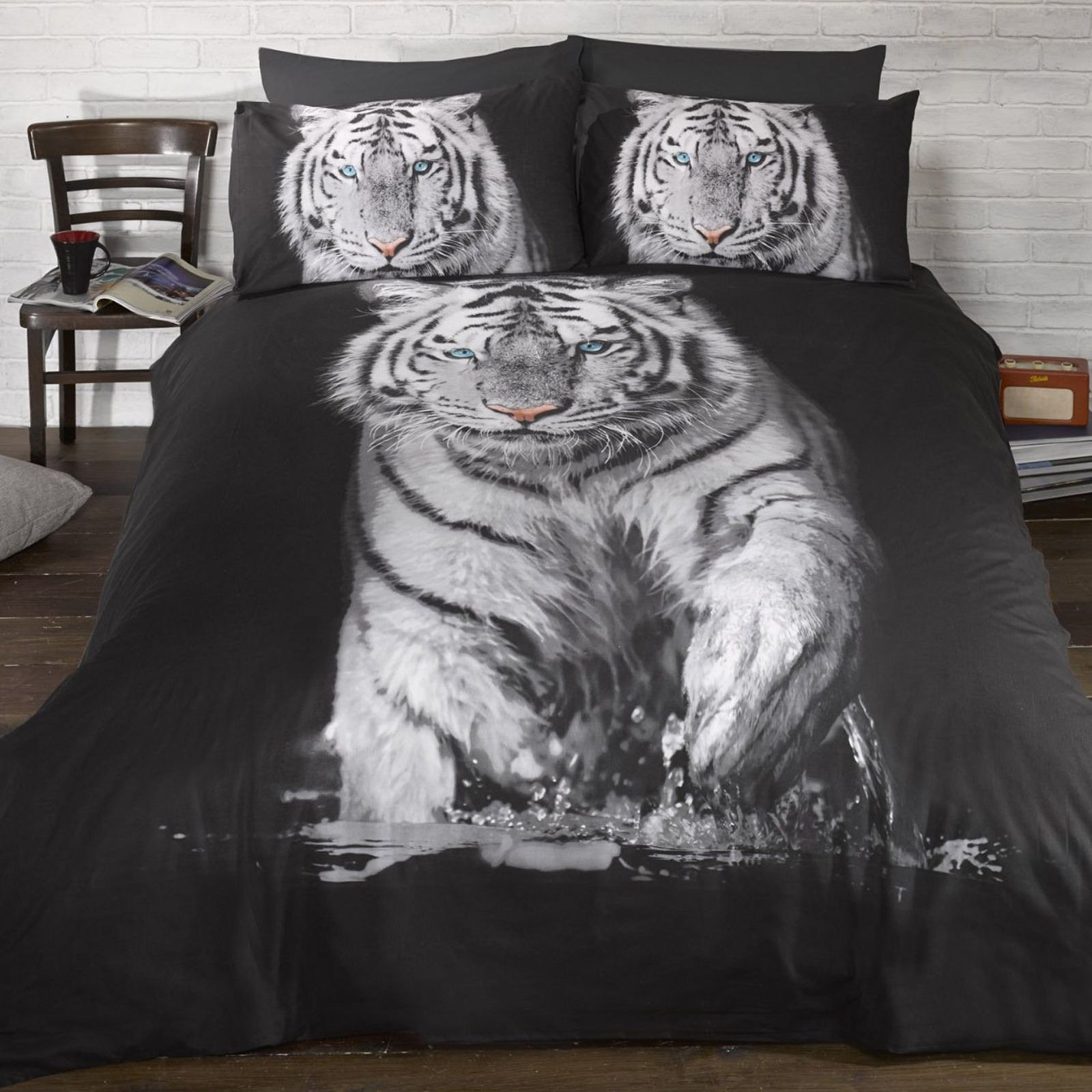 Animals Photo Duvet Cover Sets Husky Tiger Bear Stag
