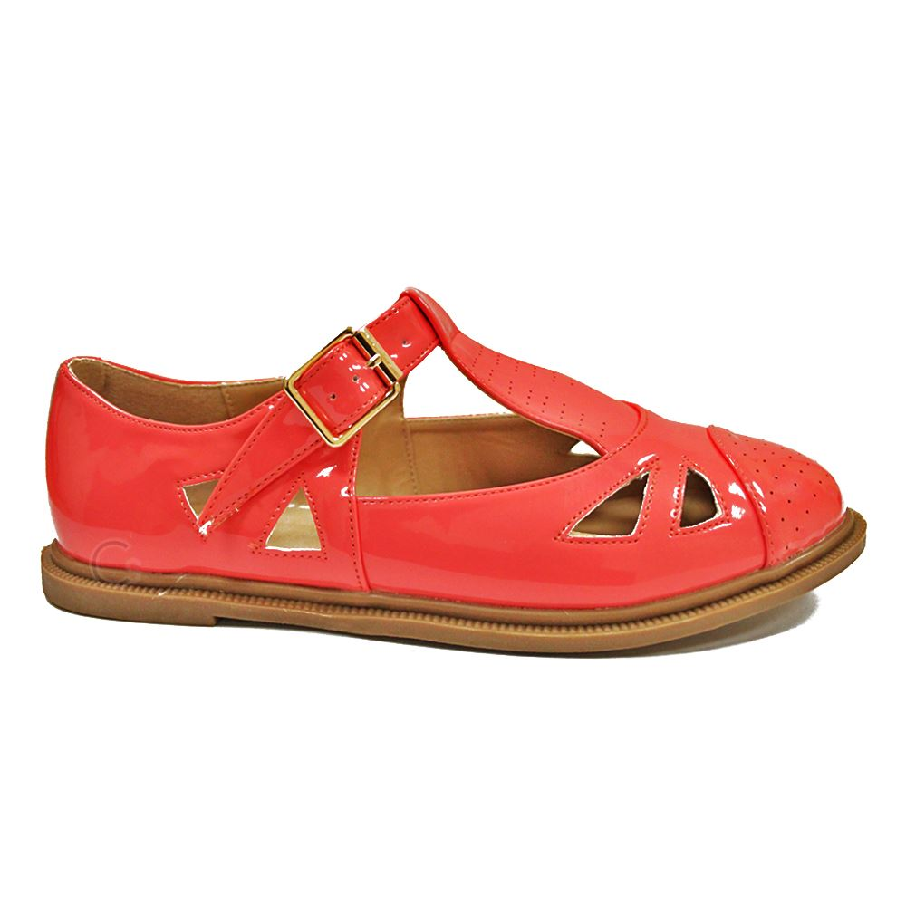 T Bar Flat Shoes Womens
