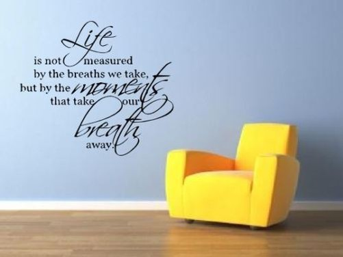 Rimovibile adesivi murali artistici citazione soggiorno | eBay