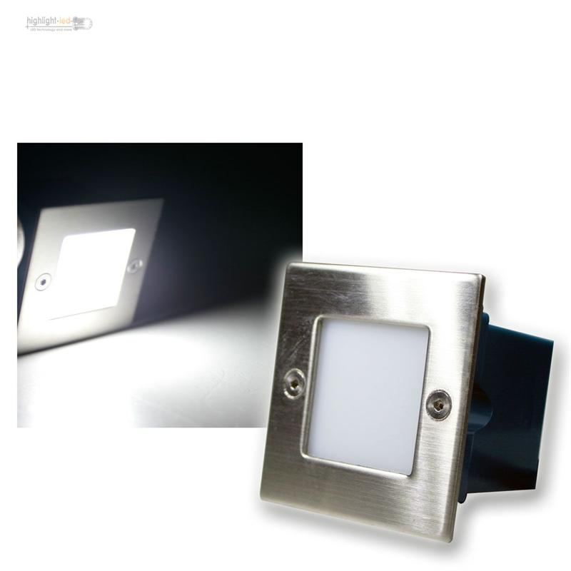 LED-parete-faretto-Illuminazi-angolare-acciaio-inox-230V-Luce-a-livelli