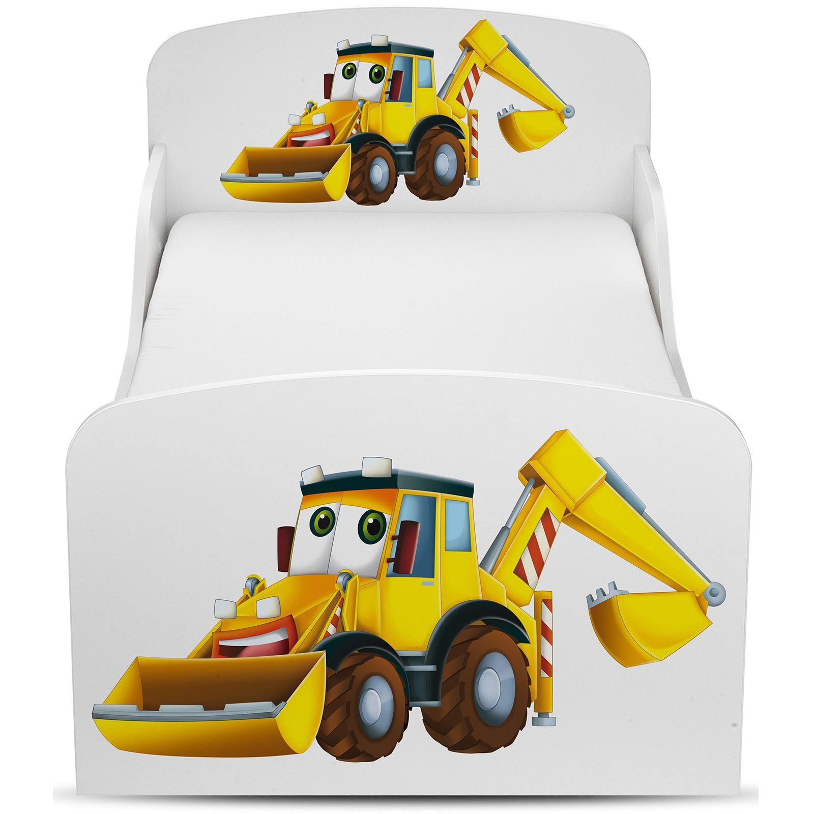 Price-Right-Home-Excavadoras-Cama-Infantil-con-o-Sin-Almacenaje-Colchon miniatura 14