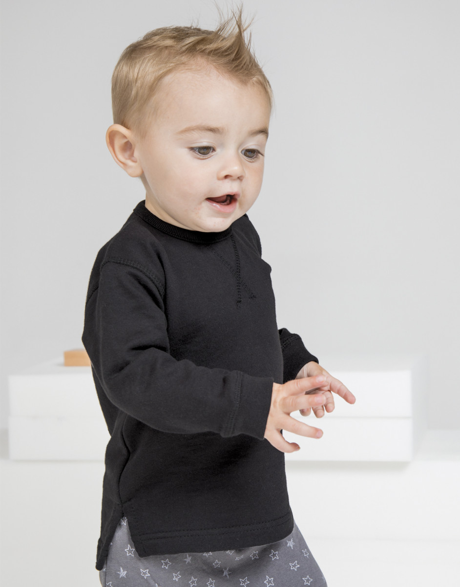 Bebe-Sudadera-Comodo-Suave-Jersey-Top-de-manga-larga-nino-nina-Moderno-Infantil
