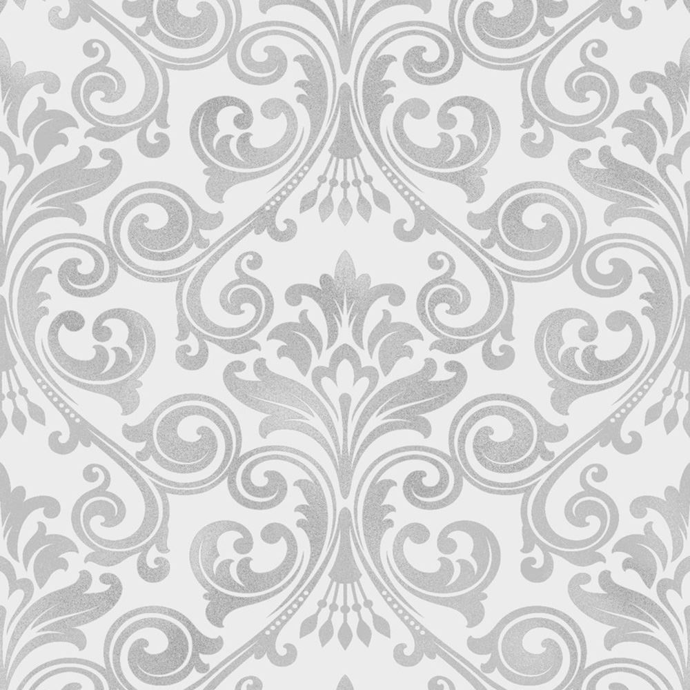 damask wallpaper by p s arthouse crown glitter metallic