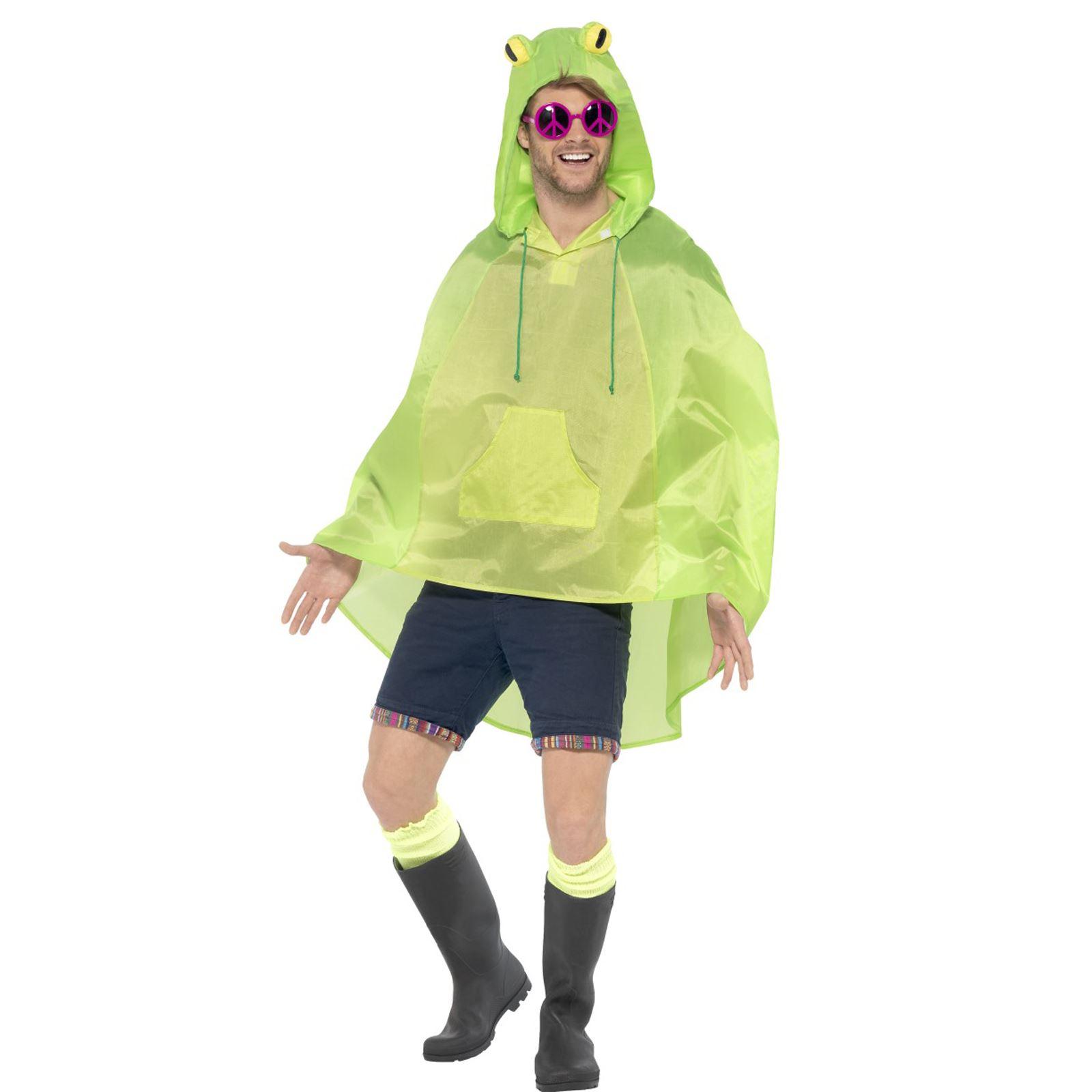Costume Rana Rana Costume rana RE pioggia Cape Festa Poncho Pioggia Poncho FROG