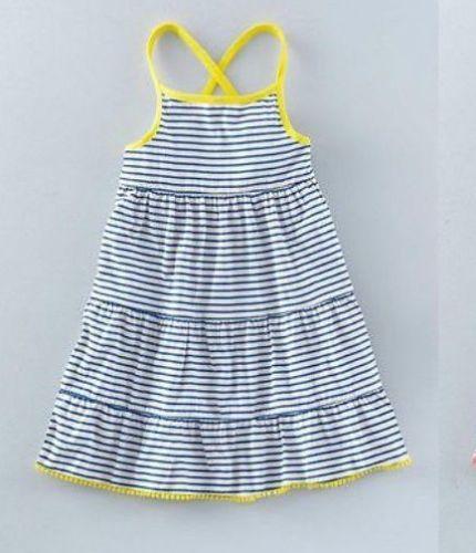 NUEVO-Mini-Boden-Jersey-rayas-vestido-volante-1-5-12-Anos-Verano-Sol