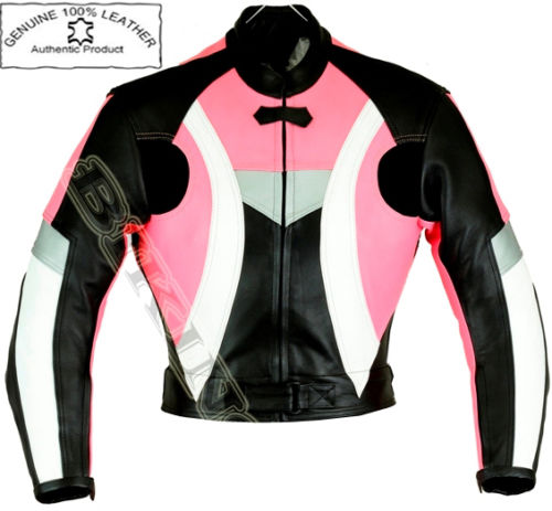 dynamisch pink damen motorrad motorradjacke aus leder. Black Bedroom Furniture Sets. Home Design Ideas