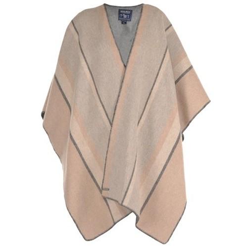 One Woolrich Size Reversible Cape Poncho Hay Woman Stripe W's Hqxq4SnX