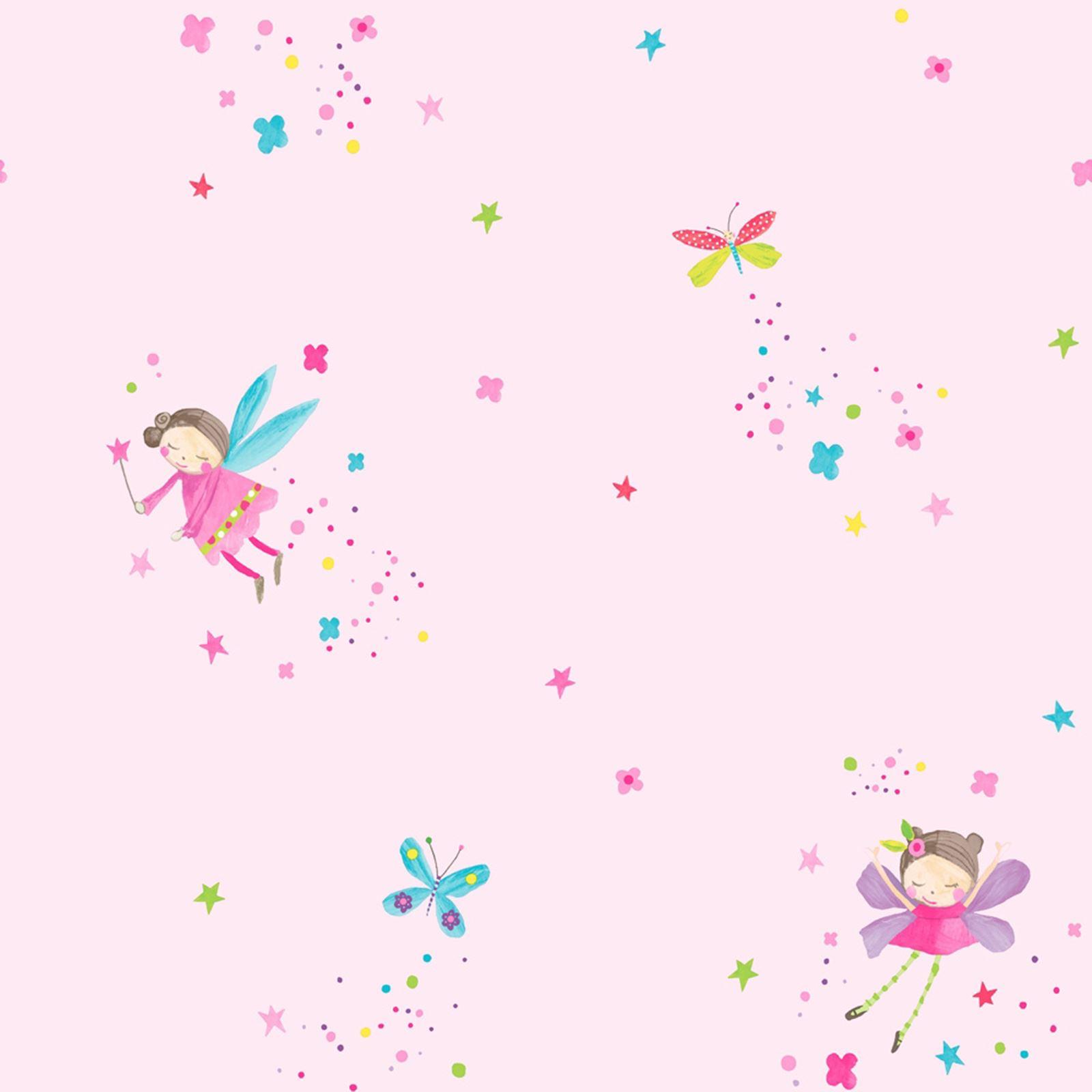 ARTHOUSE GLITTER DETAIL KIDS GIRLS BEDROOM WALLPAPER FEATURE