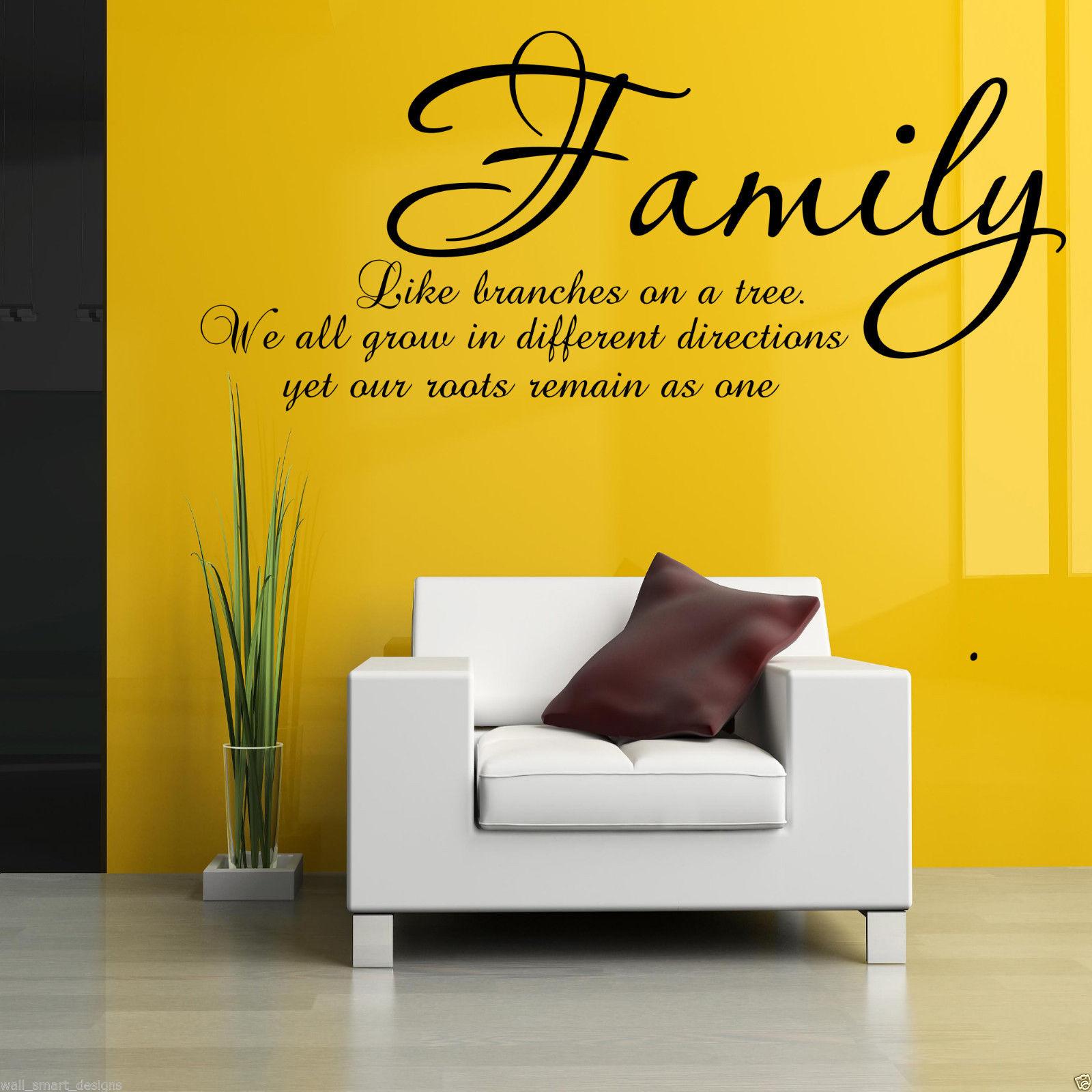 Familia-RAMAS-EN-UN-ARBOL-adhesivo-pared-Pegatina-Mural-con-frase-para-salon