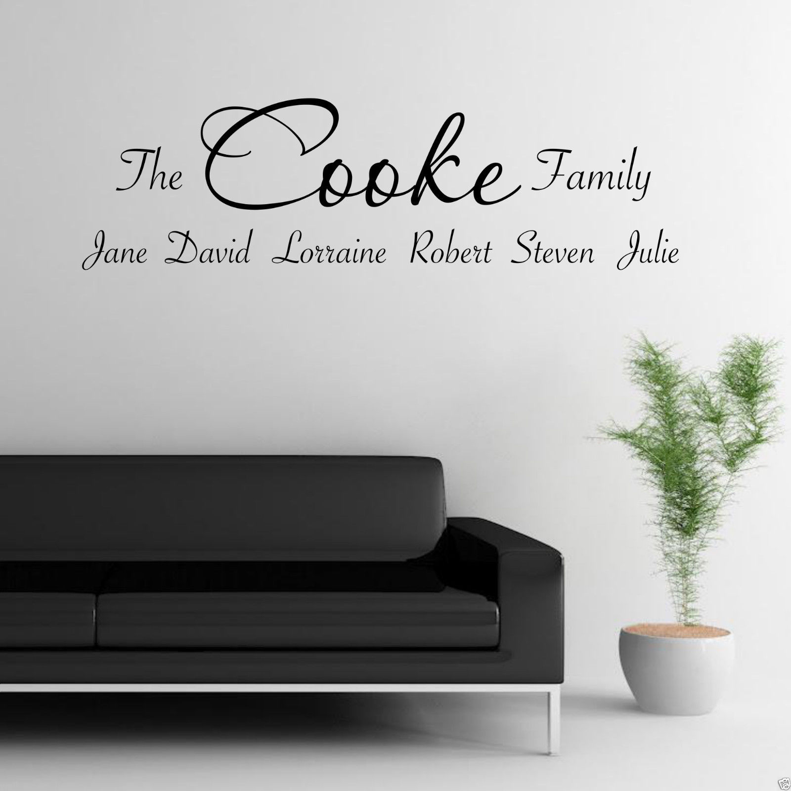 wall sticker quotes personalised color the walls of your house wall sticker quotes personalised personalised family wall art sticker lounge