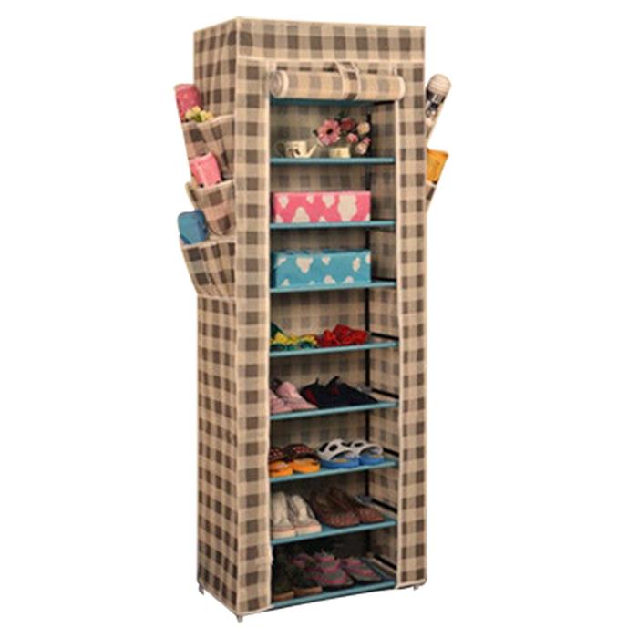 10tier lona tela zapatero zapatos organizador armario de