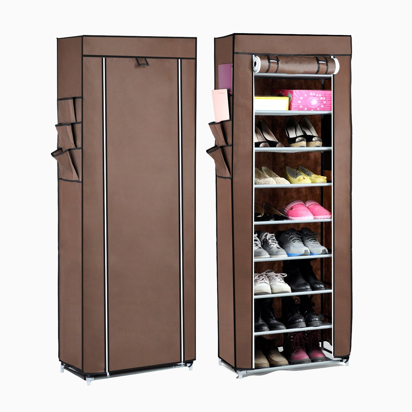 10tier lona tela zapatero zapatos organizador armario de - Armarios para zapatos ...